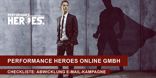 Titelbild Checkliste Abwicklung E-Mail-Kampagne