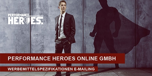 Werbemittelspezifikationen E-Mailings Titelbild