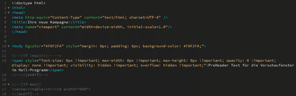 HTML Newsletter Template